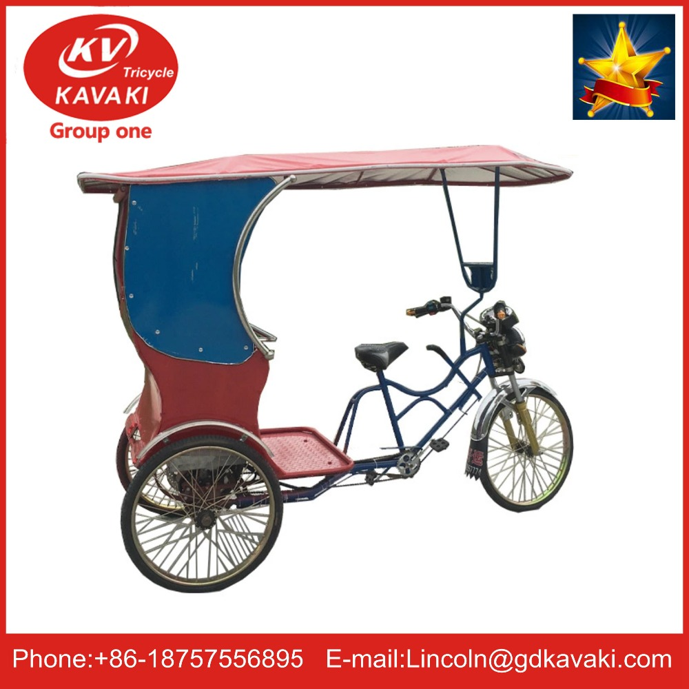 The utility model relates to an electric tricycle, a pedal tricycle and a manpower tricycle which people all love