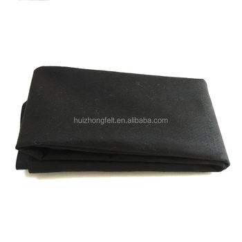 3mm thickness 100% polyester felt nonwoven felt black felt