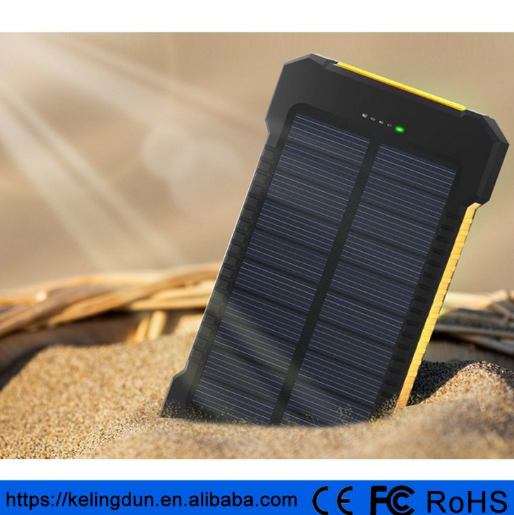 Hot selling amazon solar power bank mobile power supply 10000mah