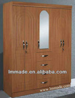 wooden bedroom wardrobes bangalore with mirror(201005)