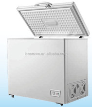BD-200 solar energy DC12/24V compressor chest freezer