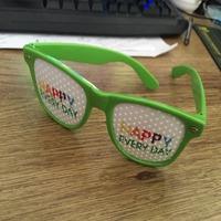 Wholesale custom PC material neon pinhole sunglasses with your logo