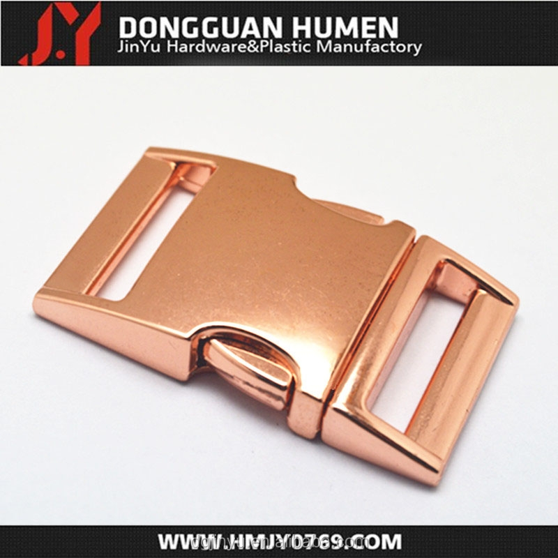 H001 red copper metal breakaway buckle 1 inch red copper metal buckle for dog collar