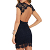 Wholesale Sexy Backless Full Lace Dress Women Tight Short