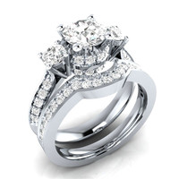 wedding ring marrissage rings 925 silver jewelry