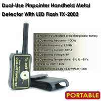 Dual-Use Pinpointer Handheld Metal Detector Metal/Body Scanner Security Protection Detector With LED Flash TX-2002