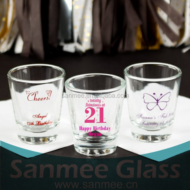 Fashion Personalized Logo Decal Tequila Shot Glass