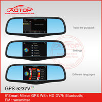 Rearview mirror Navigation/BT/Back Camera/car dvr with av-in
