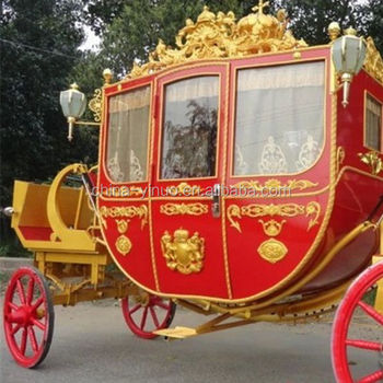 Royal horse carriage for attractions, parks, tourism, wedding and exhibition