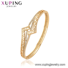 51910 Royal design fashion women jewelry artificial crystal gold bangle simply models for sale