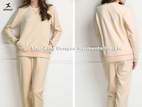 Top quality Windproof;soft ;warm pajamas silk nightgown long sleeve sexy nighty dress sleeping