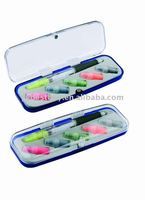 multi color ball pen with highlighter set