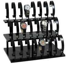 3-Tier Removable Acrylic Watch Stand Holder 24 Seat Jewelry Bracelet watch counter display rack