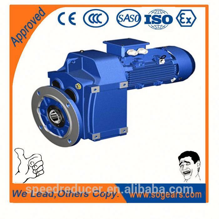 NISSIE equivalent F77 Parallel Shaft helical reduction motor gearbox With Drive Transmission Gears