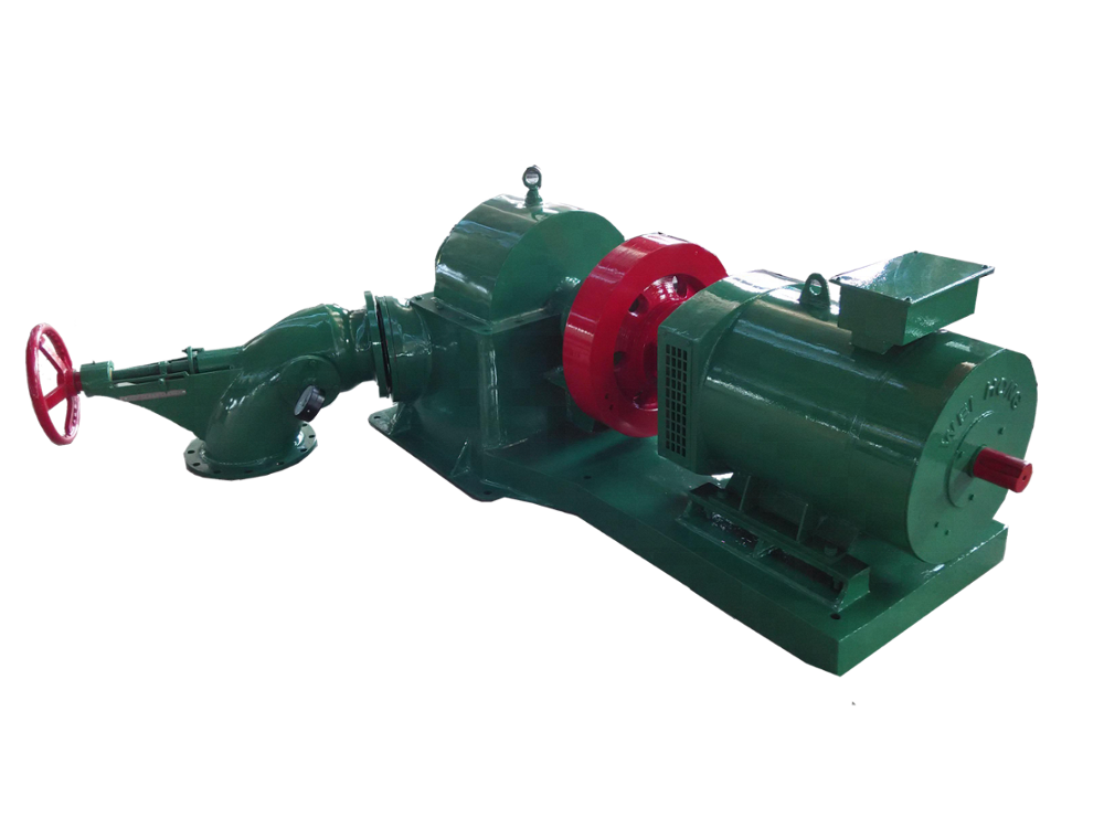 turgo  inclined turbine generator