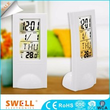 China Desktop Time And Calendar Display Alarm Lcd Transparent Digital Desk Clock