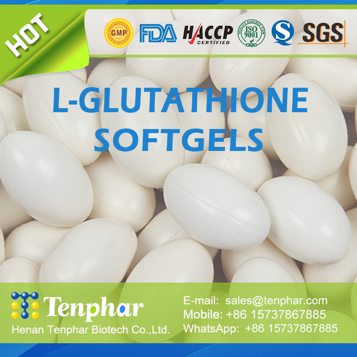 L glutathione skin whitening supplement chewable tablet soft gels