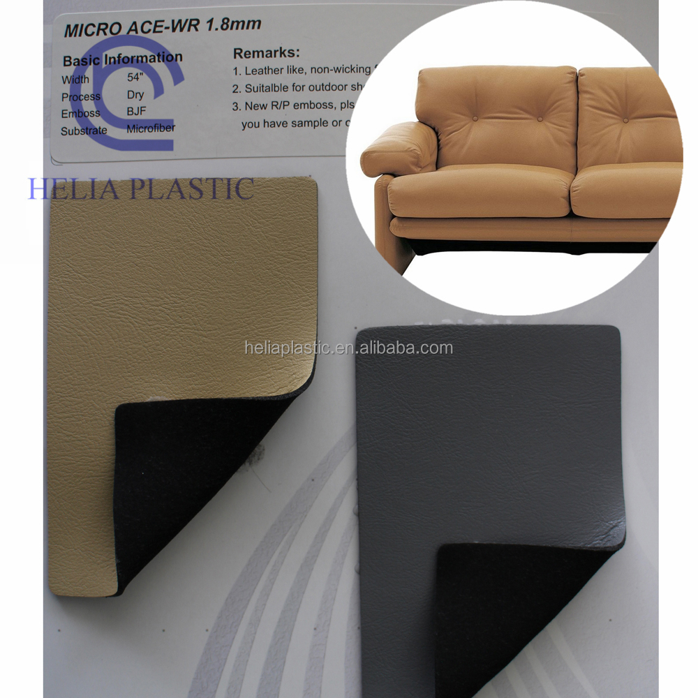 artificial fabric sofa Soft PVC Leather for sofa, Furniture with free sample