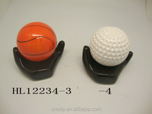 ceramic basketball money box