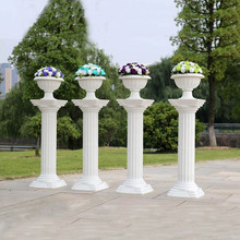 Outdoor wedding decorative stone plant greek marble columns