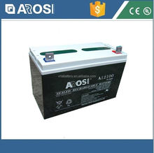 Arosi high quality best price 12v 100ah solar battery enersys battery