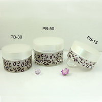 80ml round shape Personal care packaging Round Acrylic Cream Jar