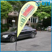 summer flags/light weight wind flag 2.8m-5.5m beach flying flags and banner with spike base and pole