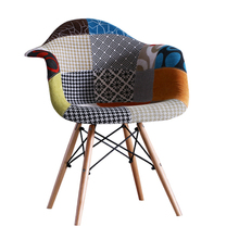 China cheap brand names modern dining room dinning chair sets upholstery fabric covered, chair patchwork
