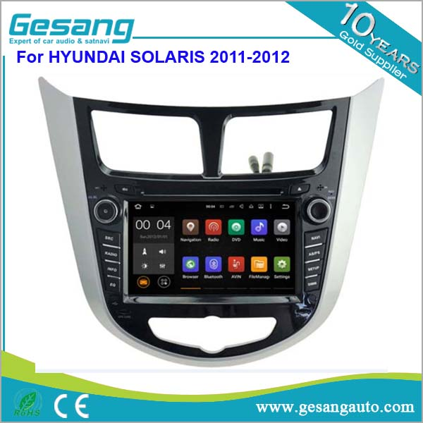 Cheaper price car gps navigation android car dvd player for HYUNDAI SOLARIS 2011-2012