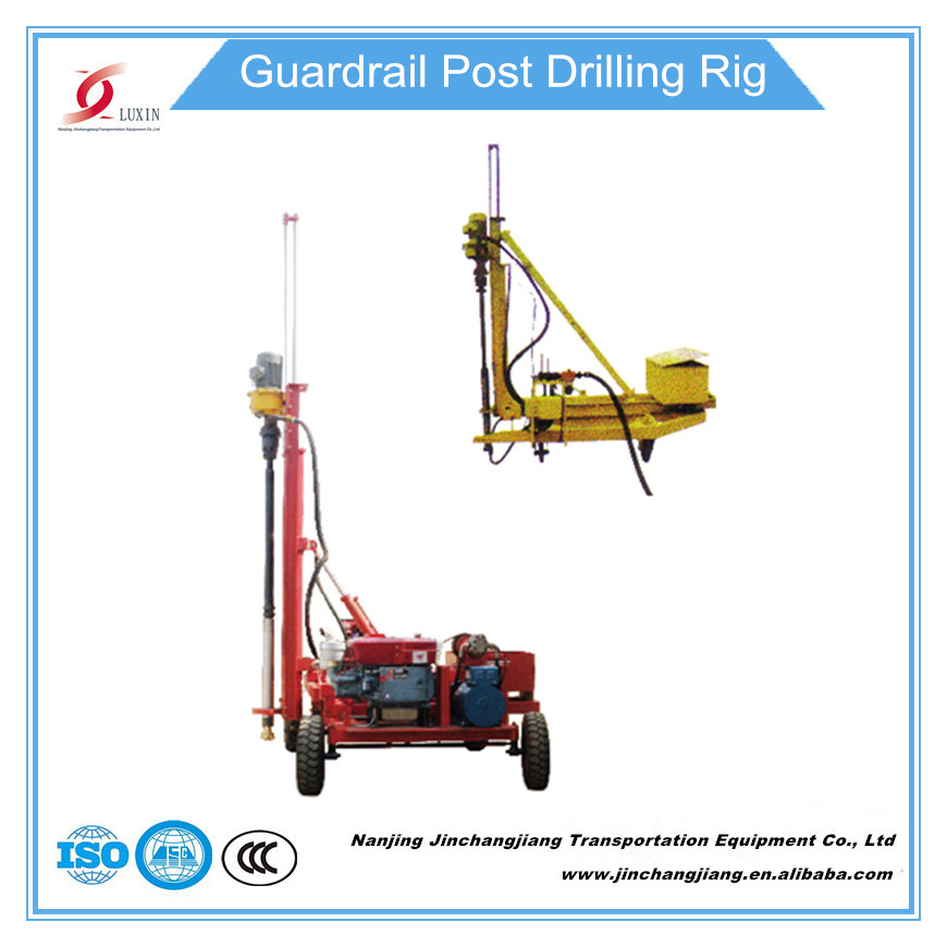 portable mini highway guardrail post drilling rig driller pavement drilling machine boring machine factory in China