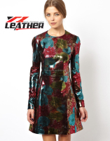 OEM fringed artificial leather dresses for women , Direct Professional factory, on sale clothing