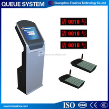17'' wireless electronic queue management system queue ticket dispenser with VIP