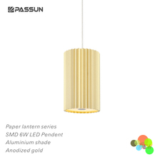 2017 Zhongshan PASSUN factory 6W gold LED pendant lights