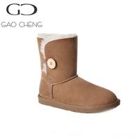 DK004 Australia sheepskin fur slip Resistant snow boots
