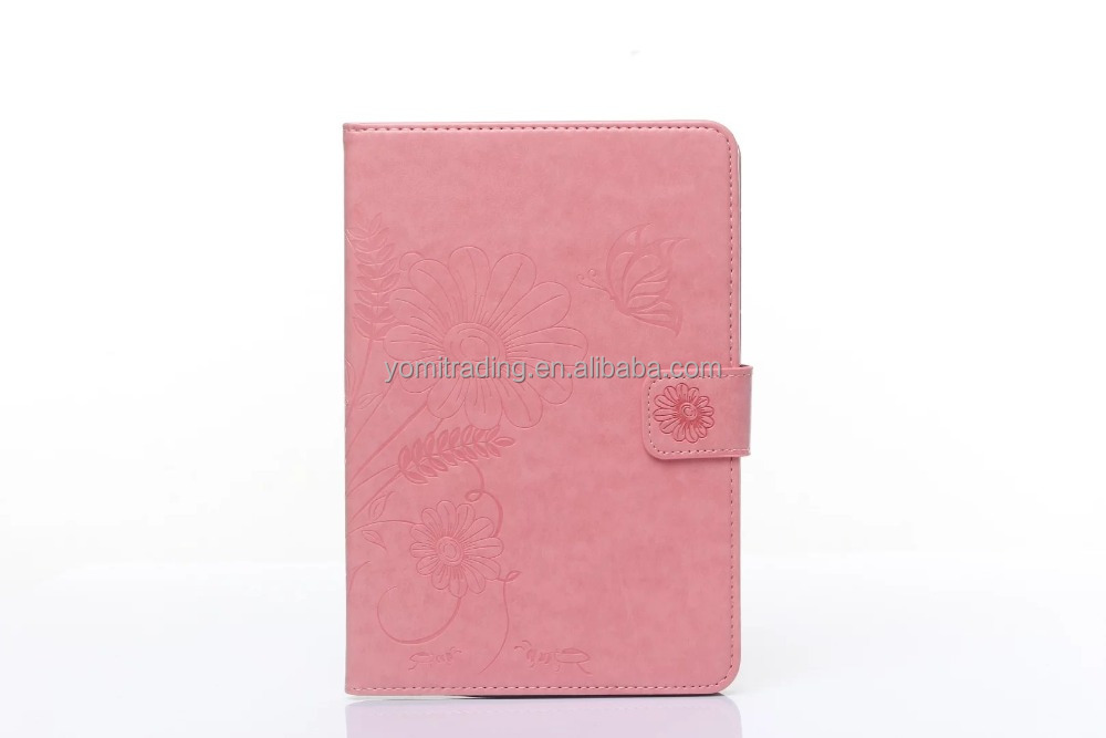 wholesale Luxury Butterfly pattern card holder Leather Case for ipad mini