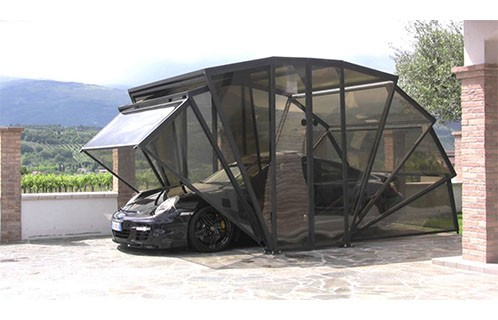 Sunsail Solar Energy Folding Portable Motorized Car Garage ...