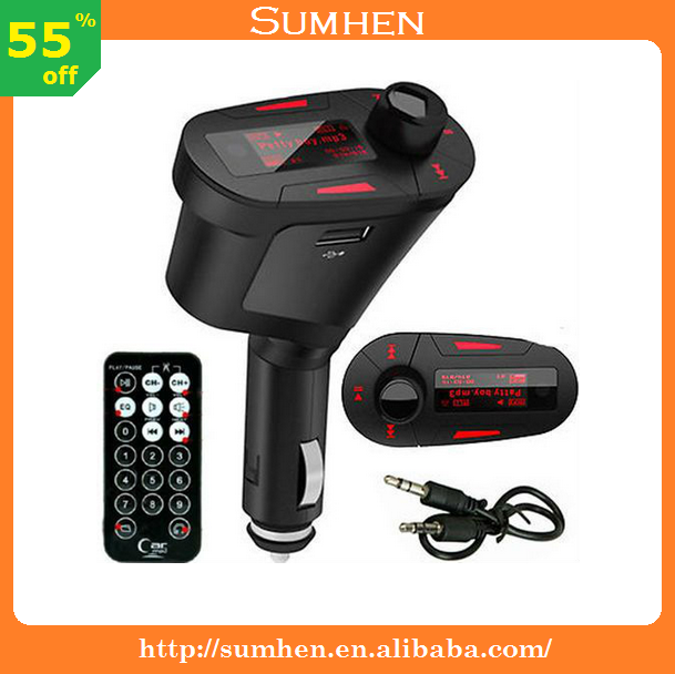 Kit Car MP3 Player Wireless FM Transmitter Modulator, USB / SD / MMC, LCD, Remote Remote