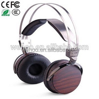 Fashion Design stereo oem wooden headphone for promotion