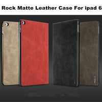 Original Rock Matte Soft touch Leather Smart Case For ipad 6 air 2