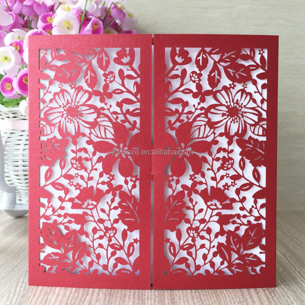 Islam style shimmer paper wedding greeting invitation card wholesale supplies greeting gift card