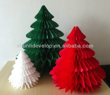Wholesale christmas decoration Christmas tree honeycomb