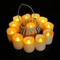 CR2450 battery powered remote control candle light