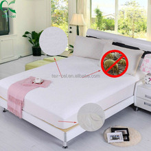 Terry Cloth Waterproof Breathable Mattress Cover/Bed bug proof Mattress Protector/ Fitted Sheet
