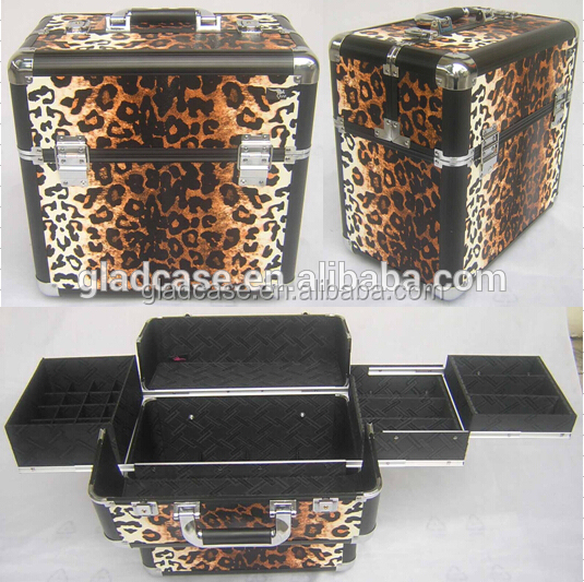 High Quality professional nail case with aluminum slide and trays inside