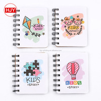 Eco friendly Recycled school note book ,mini spiral paper notebook printing