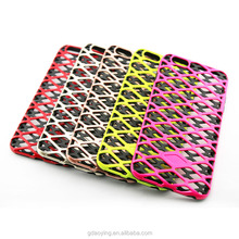 TPU +PC Mesh design mobile phone case for iphone 6