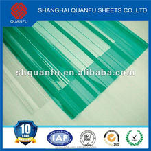 pc corrugated roofing sheet polycarbonate panel high quality with 10 years warranty