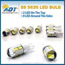 2015 New And Hot Products non-polarity T10 Ba9s 5630 auto led lamps, AC12V 10leds white red yellow car led bulbs with lens