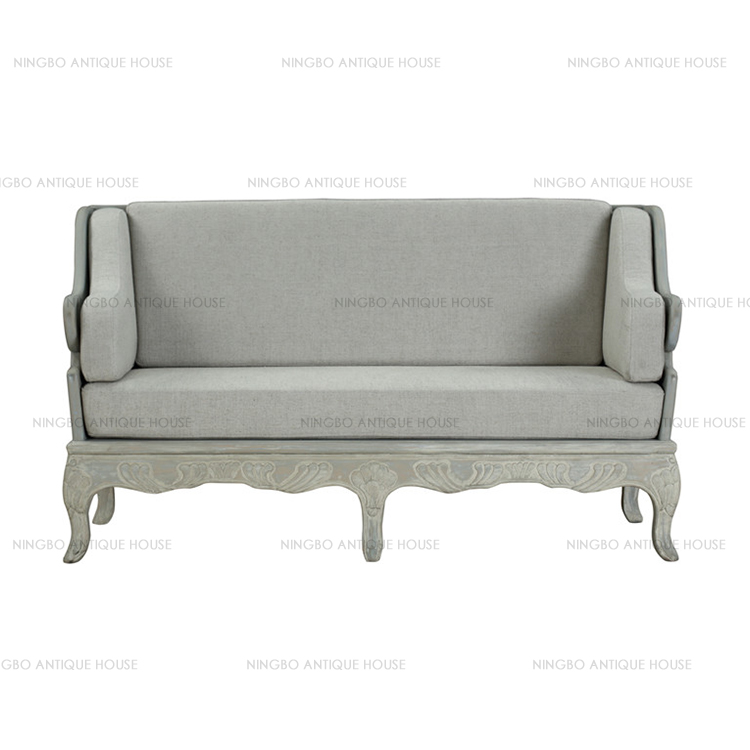 Superior quality L143*W73*H81 sofa french reproduction furniture