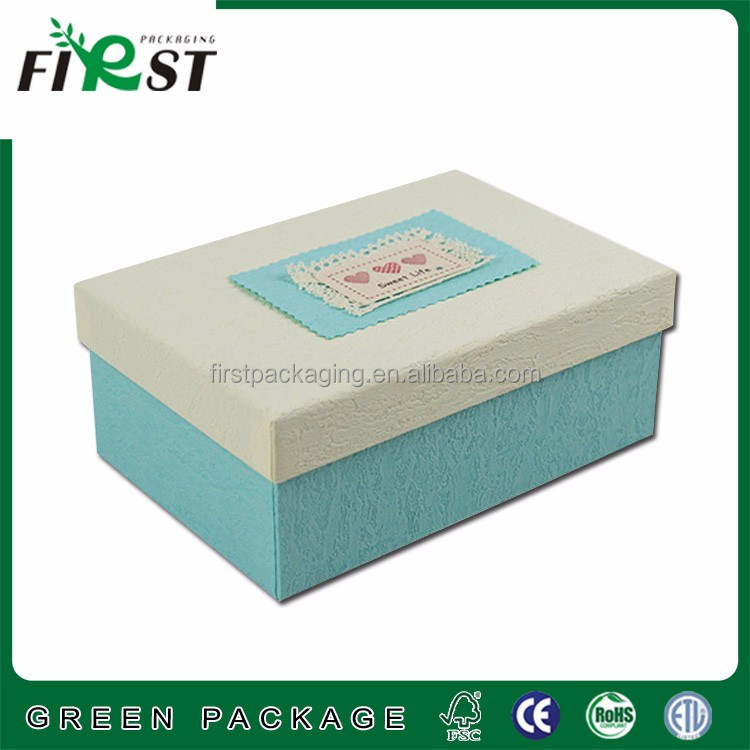 wholesale sweet cardboard paper rectangle gif box, custom printed candy packaging box with lid,cheap hard cardboard boxes